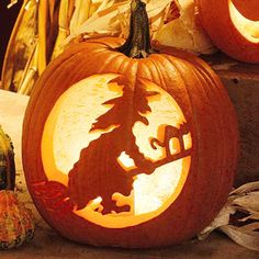 Look no further than the classics for pumpkin carving ideas. Our free pumpkin carving stencils help you adorn your porch with favorite Halloween designs. Witches, werewolves, black cats, and more—there are simple pumpkin stencils for any age and ability. Pumpking Carving, Halloween Pumpkin Stencils, Pumpkin Carving Tools, Halloween Pumpkin Carving Stencils, Amazing Pumpkin Carving, Pumpkin Carving Patterns, Diy Pumpkin, Halloween Pumpkins, Spooky Halloween