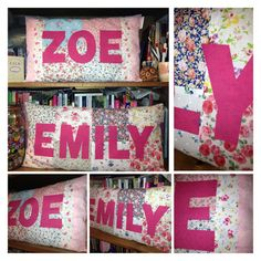 Appliquéd made to order personalised pillow by CraftHillFabric, £18.00