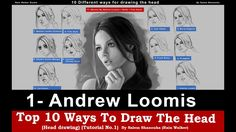 Top 10 ways to draw the head [1- Andrew Loomis] -Tutorial No.1-