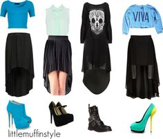 """""""Little Mix Inspired w/ black high low skirts"""" by little-mix-fashion on Polyvore"""