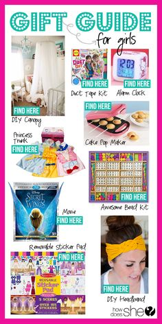 Gift Giving Guide for Girls! #girlgifts #giftguide #howdoesshe howdoesshe.com