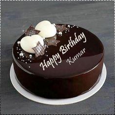 Birthday Cake Write Name, Birthday Wishes With Name, Birthday Cake Writing, Happy Birthday Wishes Cake, New Birthday Cake, Cake Name, Birthday Cake With Flowers, Chocolate Cake With Name, Happy Birthday Chocolate Cake