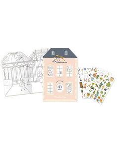 Malbuch LES PARISIENNES mit Stickern Malta, Le Moulin, Finland, Norway, Lithuania, United Kingdom, Slovenia, Hungary, Childrens Gifts