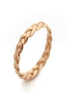 Yellow gold braided http://link.ssg.bg/1SneIfi #Бижута Пръстен Engagement & Wedding Rings Pinterest