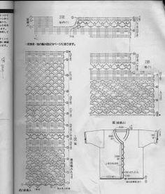 CARAMELO DE CROCHET: blusón crochet japonés