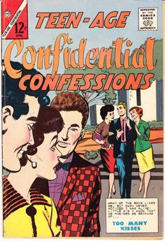 Teen-Age Confidential Confessions 17 Charlton Comics by LifeofComics Girls Secret Love Young Romance True Heart Throbs Diary Style Fashion Comics Vintage #comicbooks