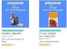 """Amazon: Entsafter und Ernährungsartikel für einen Tag zu Schnäppchenpreisen https://www.discountfan.de/artikel/essen_und_trinken/amazon-entsafter-und-ernaehrungsartikel-fuer-einen-tag-zu-schnaeppchenpreisen.php Der """"Tag der gesunden Ernähurng"""" hat bei Amazon ein Nachspiel: Nur am heutigen Donnerstag gibt es für Prime-Kunden gesunde Snacks, Organic Bio Cacao und """"Think Drinks"""" zu Schnäppchenpreisen. Amazon: Entsafter und Ernährungsartikel für"""