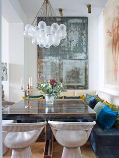 scandinavian interior design in Paris Kitchen Dining, Dining Table, Scandinavian Interior Design, Simple House, Terrazzo, Decoration, Paris, Wall, Inspiration