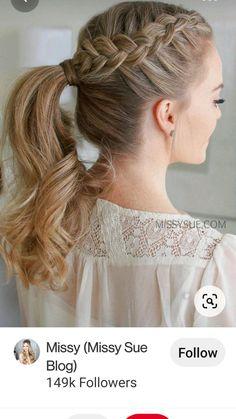 Braided Ponytail Hairstyles, Box Braids Hairstyles, Wedding Hairstyles, Cool Hairstyles, Hairstyle Ideas, Hairstyles 2016, Braids Into Ponytail, Ponytail Ideas, African Hairstyles