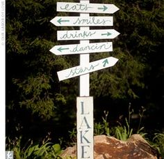 "Wooden Reception Sign- ""Stars"" is such a great sign to add!!"