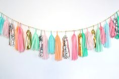Tassel garland for graduation.  :)