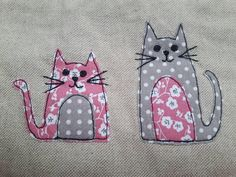 This zipper pouch can make a great present for any knitter as its an ideal size for small knitting/crocheting project or sock project. Please see photo for comparasment in my shop updates. Cat applique small knitting project bag, notion bag or makeup bag/toiletry bag/pencil