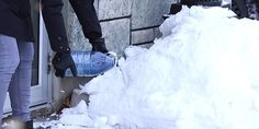 Avoid Slips And Falls This Winter With This Easy To Make Sidewalk Melt Solution Diy Crafts Useful, Winter Hacks, Slip And Fall, Winter Food, Keep It Cleaner, Good To Know, Walkway, Outdoor Gardens, Life Hacks