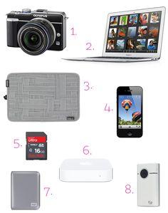 Ultimate Gadget List for Blogging & Travel #blogging #travel #gadgets #tech