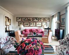 Lee Radziwill in her Paris apartment. Photograph by François Halard. Styled by Carolina Irving.