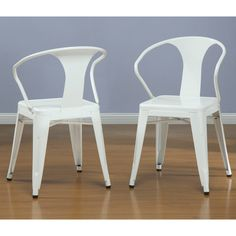 $199.00 White Tabouret Stacking Chairs (Set of 4) | Overstock.com Shopping - The Best Deals on Dining Chairs