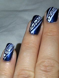 Lace strips nail art