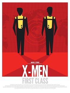 """X-Men First Class"" minimalist poster."