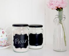 DIY Chalkboard Jar Labels