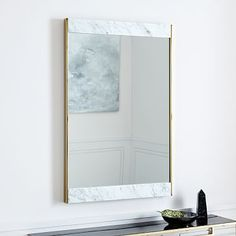 Marble + Brass Wall Mirror | west elm