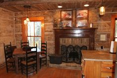 Guntersville Vacation Rental - VRBO 334070 - 1 BR Guntersville Lake Cabin in AL, Mountaintop Log Cabin Getaway with Breathtaking Views I like the wide framing around the windows.