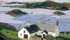 Free Landscape Quilt Patterns | Quilt du Jour: Landscape Quilt by Norah McMeekling