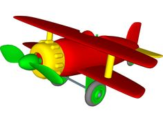 cartoons airplanes | Airplane Toy 3D Model for 3ds Max, Maya, Cinema 4D, Lightwave ...