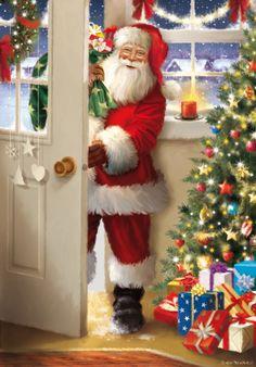 Christmas Scenery, Christmas Past, Cozy Christmas, Christmas Holidays, Christmas Crafts, Christmas Decorations, Xmas, Christmas Decoupage, Vintage Christmas Cards