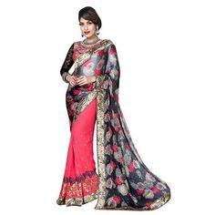 Buy innara trendz multi georgette saree by Innara Trendz, on Paytm, Price: Rs.1499?utm_medium=pintrest