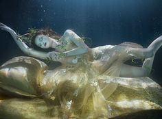 Exquisite bed linen and gossamer-fine gowns set the scene for the sweetest of slumbers. Styling by Damian Foxe. Underwater photographs by Zena Holloway.