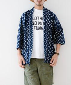 野良着 藍染 襤褸 絣 ジャパンヴィンテージ 50年代 着物   FUNS   Noragi Japan Vintage Boro Toddler Fashion, Boy Fashion, Mens Fashion, Spring Fashion, Kimono Shirt, Modern Kimono, Weekend Style, Kimono Fashion, Fashion 2020