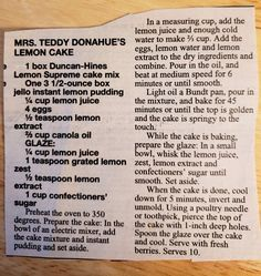 Lemon Dessert Recipes, Duncan Hines, Lemon Water, Jello, Baking, Gelatin, Bakken, Backen, Sweets
