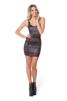 Space Invaders Dress - LIMITED › Black Milk Clothing