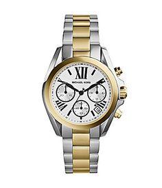 Michael Kors Mini Bradshaw TwoTone Chronograph Watch #Dillards