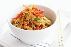 Tender poached chicken is given an Asian twist in this crunchy, colourful salad.