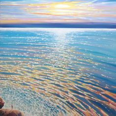 Title:Selkie by the the sea - a large original seascape painting at sunset; Artist Name:Gill Bustamante; x 40 x inches original oil painting of a gl. Art Paintings For Sale, Modern Art Paintings, Seascape Paintings, Traditional Artwork, Original Art For Sale, Online Art Gallery, Airplane View, Illustrators, Art