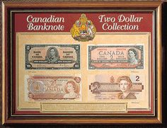 Canadian Two Dollar Banknote Collection