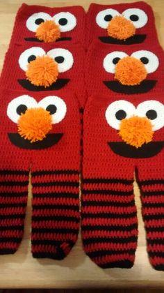 "Elmo crochet baby pants hand made  by I love it """" crochet"""""