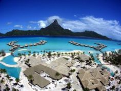 Bora Bora    Located in French Polynesia in the South Pacific, Bora Bora is well-known as one of the most beautiful islands in the world. With crystal clear waters and awesome accommodations, there's no way to avoid this one.