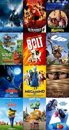 1. This is a collection of animated films. To me , they represent why I am here at full sail, and what I want to do with my future.  2. This image motivates me because it shows me the wide array of talent that makes some of the best animated features in the world. I want to see my name listed amongst the credits.   3. This is a purpose in my life. I feel that all of the editing and video production I have done over the past 10 years is leading me to this place.