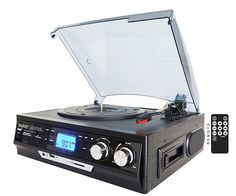 Turntable with Built in Speakers + LCD Display | CoolShitiBuy.com