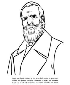 Coloring pages for US history. Places, presidents, events, states