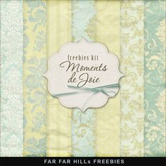 Far Far Hill - Free database of digital illustrations and papers: Freebies Kit of Backgrounds - Moments de Joie