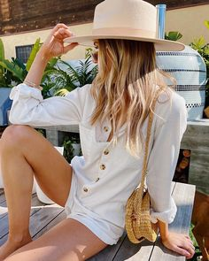Tegan Jumper Whitewash – Show Me Your Mumu Casual Jumpsuit, White Jumpsuit, How Many Bridesmaids, Boho Hat, Girls Together, Denim Romper, Stylish Hats, Weekend Outfit, Summer Hats