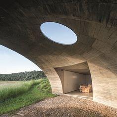 Patio Interior, Interior Exterior, Monsaraz, Deep Impact, Earth Surface, Design Competitions, Common Area, Bury, Natural Wood