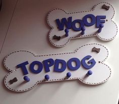Personalised Pegged Dog Lead Holders Small or Large, £9.99