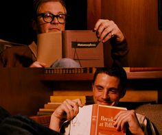 Colin Firth and Matthew Goode read. Such a sweet scene from A Single Man.