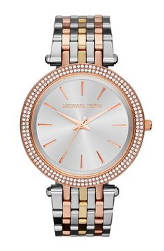 Michael Kors 'Darci' Round Bracelet Watch, 39mm available at #Nordstrom   TRICOLOR!  I love it!