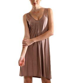 Another great find on #zulily! Mushroom Scoop Neck Nightgown - Women & Plus by Mystique Intimates #zulilyfinds