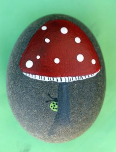 Have you ever really seen a real red mushroom with white polka dots? Me neither but it looks pretty  Place in your garden, in a small potted…
